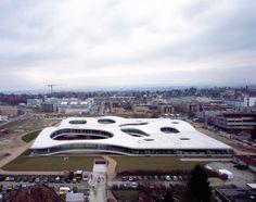 Rolex Learning Center, Lausanne, Switzerland, Japanese architects Kazuyo Sejima and Ryue Nishizawa of Sanaa Architecture. Lausanne, Rolex, Tokyo Architecture, Architecture Design, Japanese Architecture, Amazing Architecture, Sanaa, Ryue Nishizawa, Key Projects