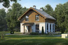 Проект жилой дом #57-17 материал - газобетон, стиль скандинавский