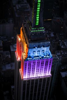 Empire State Building when gay marriage was legalised <3