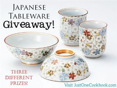 Japanese Tableware Giveaway at JustOneCookbook.com