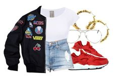 """✨"" by eazybreezy305 ❤ liked on Polyvore featuring NIKE, Ray-Ban, DOPE, Trendy and summer2016"