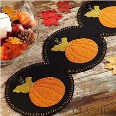 Harvest Time Runner w/ Appliqued Pumpkins