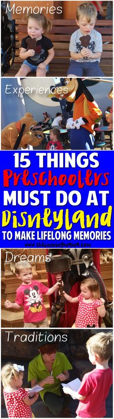 15 things you MUST DO with your kids at Disneyland! This list is full of great ideas for traditions that will make memories for a life time! Number 2 is BRILLIANT! Saving this list to do it with our preschoolers when we go to Disney!!
