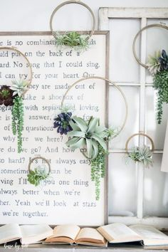 Paper Embroidery Ideas DIY Succulent Embroidery Hoop Wreaths via House by Hoff Embroidery Designs, Embroidery Hoop Decor, Learn Embroidery, Japanese Embroidery, Embroidery Hoop Art, Flower Embroidery, Embroidery Stitches, Embroidery Jewelry, Wedding Embroidery