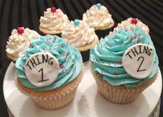 Thing 1 & Thing 2 Smash Cupcakes