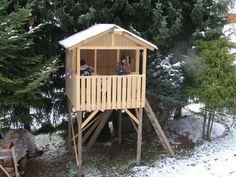 haus auf stelzen baumhaus aus holz bauen f r kinder spielger t sonnensegel sonnenschutz. Black Bedroom Furniture Sets. Home Design Ideas