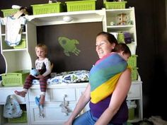 """PAXbaby """"Declan's Shoulder Carry""""  high tummy hold ring sling & breastfeeding instructions"""