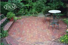 Drylaid Round Brick Patio by Kings Masons, via Flickr