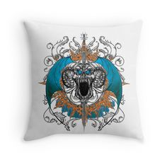 Skull & Horns with Blue Wings Blue Wings, Phone Covers, Horns, Skull, Pillows, Artwork, Mens Tops, Future, Mobile Covers