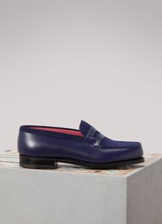 Buy JM WESTON Mocassin calf box online on Shop the latest trends - Express delivery & free returns. Jm Weston, Loafers For Women, Loafers Men, Logo Shoes, Mastercard Logo, French Fashion, Calf Leather, Moccasins, Calves