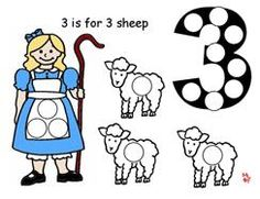 Little Bo Peep Magnet Page for a Lamb Theme from Making Learning Fun.