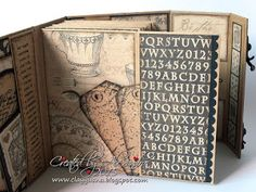includes how to video - made from envelopes *ClayGuana: Graphic 45 Craft Reflections Suitcase Vintage Style Mini Album