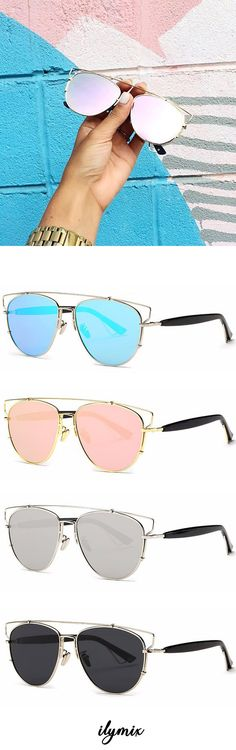 4fe3f41b20d Flat Front Metal Aviator Sunglasses