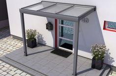REXOvita Haustür-Vordach: 3,00 x 1,00m mit 16mm Stegplatten