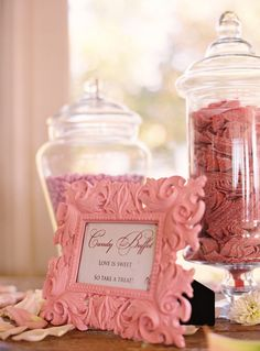 definitely will be having a candy buffet at my wedding! Pink Candy Buffet, Candy Table, Dessert Table, Wedding Reception, Our Wedding, Dream Wedding, Magical Wedding, Wedding Signage, Reception Ideas