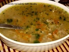 Russian Recipes, Cheeseburger Chowder, Soup Recipes, Food And Drink, Low Carb, Gluten Free, Vegan, Cooking, Healthy