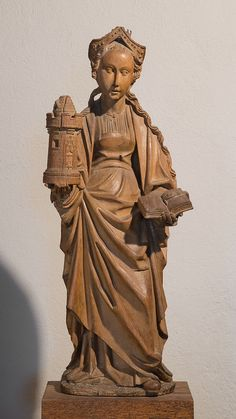 Saint Barbara | French | The Metropolitan Museum of Art Saint Barbara, Saint Christopher, The Cloisters, Artists For Kids, 15th Century, Art History, Saints, Metropolitan Museum, Bible