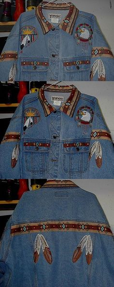 Native American 163146: Eagle Eagle Feather Jean Jacket (Embroidered) Native American Looking -> BUY IT NOW ONLY: $200 on eBay!