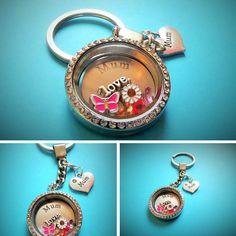 MUM filled floating charm living memory locket -choice of chain -gift - FREEPOST