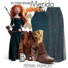 Gorgeous Merida outfit from Brave | Disney Fashion | Disney Fashion Outfits | Disney Outfits | Disney Outfits Ideas | Disneybound Outfits |