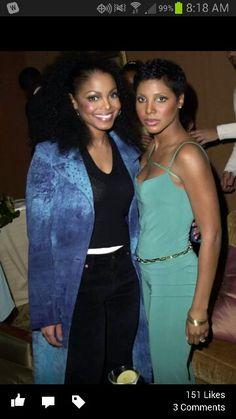 Janet with Toni Braxton