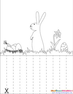 Hide the rabbit's eggs in the grass Cutting Activities, Activities For Boys, Educational Activities, Cutting Practice, Scissor Skills, Math Books, Kindergarten Worksheets, Learning Centers, Pre School