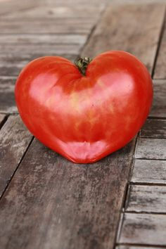 Gotta love our beautiful heart-shaped heirloom tomato!