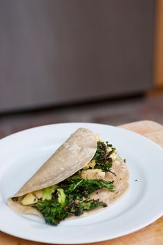 Crispy Kale and Avocado Taco