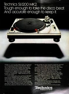 Vintage Advertisement - Technics SL-1200 MK2