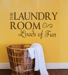 Laundry Room Decal Laundry Room Wall Decal Laundry by SignJunkies Custom Vinyl Lettering, Custom Decals, Vinyl Wall Decals, Laundry Room Decals, Laundry Room Signs, Home Theater Decor, Clothes Line, Step By Step Instructions, Room Decor