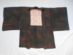Japanese Vintage Kimono Haori Silk Dark Brown S09 0213 | eBay