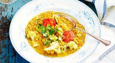 Linsgryta med blomkål och curry