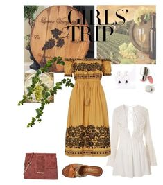 """italian Dream"" by hiru-ha on Polyvore featuring Wanderlust Life, Topshop, Tuscany Leather, Nearly Natural, Ilia, girlstrip and WineTastingOutfit"