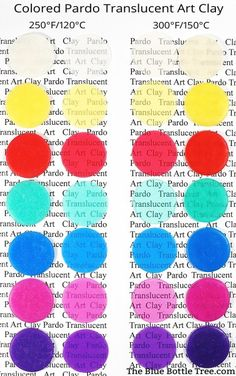 Pardo Colored Translucent Clay - The Blue Bottle Tree Color Mixing Chart, Clay Tutorials, Free Tutorials, Blue Bottle, Polymer Clay Beads, Clay Crafts, Totems, Hot, Sugru