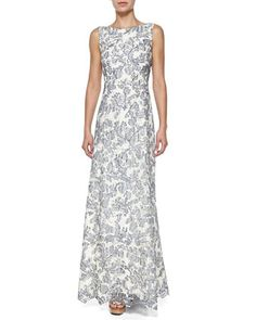 Skye Embroidered Gown by Tory Burch at Neiman Marcus.