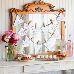 {Ella Claire}: A Funny Story and Shabby Chic Sugar and Spice Baby Shower Printables