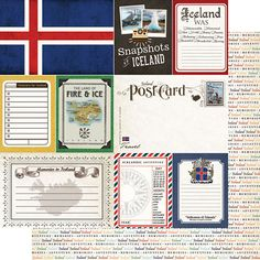Scrapbook Customs - Travel Photo Journaling Collection - 12 x 12 Double Sided Paper - Iceland at Scrapbook.com