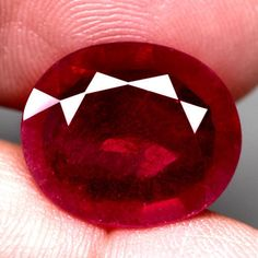 10.25CT.GORGEOUS! OVAL FACET TOP BLOOD RED NATURAL RUBY MADAGASCAR NR! #GEMNATURAL