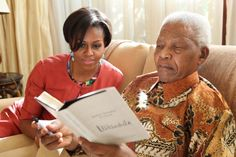 Michelle Obama and Nelson Mandela
