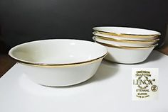 """Lenox ETERNAL 6 1/4"""" Cereal or All Purpose Bowls, Sets of 4"""