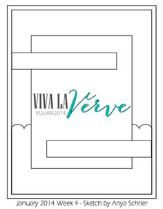It's Viva la Verve time! Anya sketched up a fabulous layout for us today, for Viva la Verve January 2014 Week 4 ! Scrapbook Patterns, Scrapbook Sketches, Card Sketches, Scrapbook Pages, Scrapbooking, Sketch 4, Sketch Ideas, Project Life Cards, Card Patterns