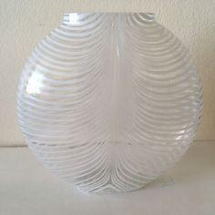 KOSTA BODA Vase 48472 Signed Piece Zebra Stripe Swedish Art Glass Bertil Vallien  | eBay
