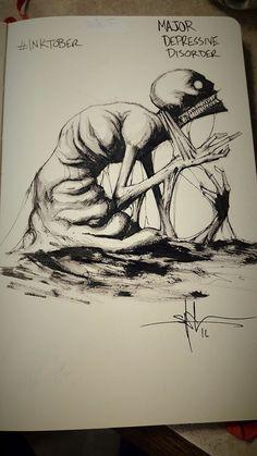Major Depressive Disorder http://greatist.com/live/striking-illustrations-represent-different-types-of-mental-illness