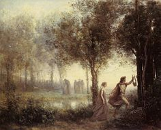 TICMUSart: Orpheus Leading Eurydice from the Underworld - Camille Corot (1861) (I.M.)