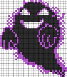 Ghost Missingno Sprite Perler Bead Pattern / Bead Sprite
