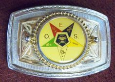 ORDER OF EASTERN STAR BELT BUCKLE