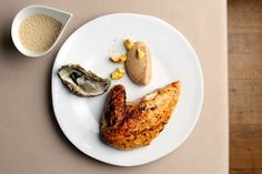 Roast Capon with Oyster Sauce Recipe - Great British Chefs - Roast capon with h. - Roast Capon with Oyster Sauce Recipe – Great British Chefs – Roast capon with hay, chestnut pu - Sauce Recipes, Gourmet Recipes, Chicken Recipes, Healthy Recipes, Coconut Milk Chicken, Fresh Oysters, Chef's Choice, Great British Chefs