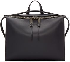 Fendi - Navy Leather Small Messenger Bag
