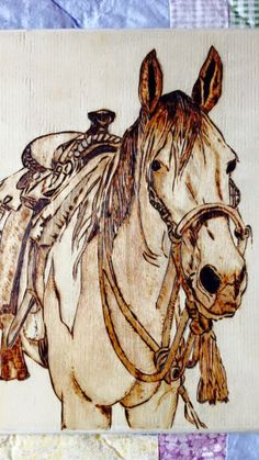 """Horse"" Pyrography - (aka "" Wood Burning"")"