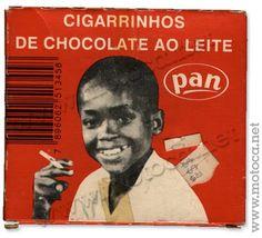 eu sou do tempo dos cigarrinhos de chocolate da pan com o guri da caixinha fumando na maior...